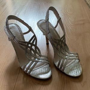 Caparros Trinidad Open-toe, Silver Dress Sandal